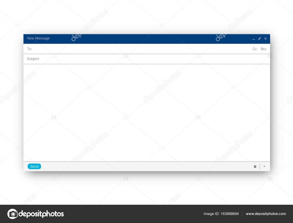 E-Mail-Vorlage leer — Stockvektor © DeziDezi #163888694