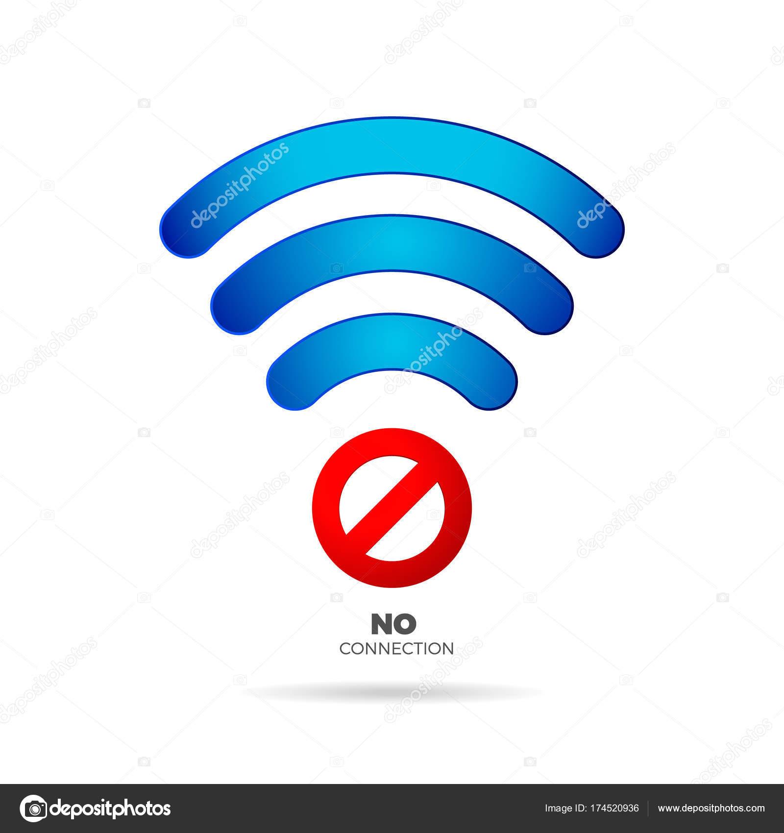 keine Internet-Verbindung-Zeichen-Vektor — Stockvektor © DeziDezi ...