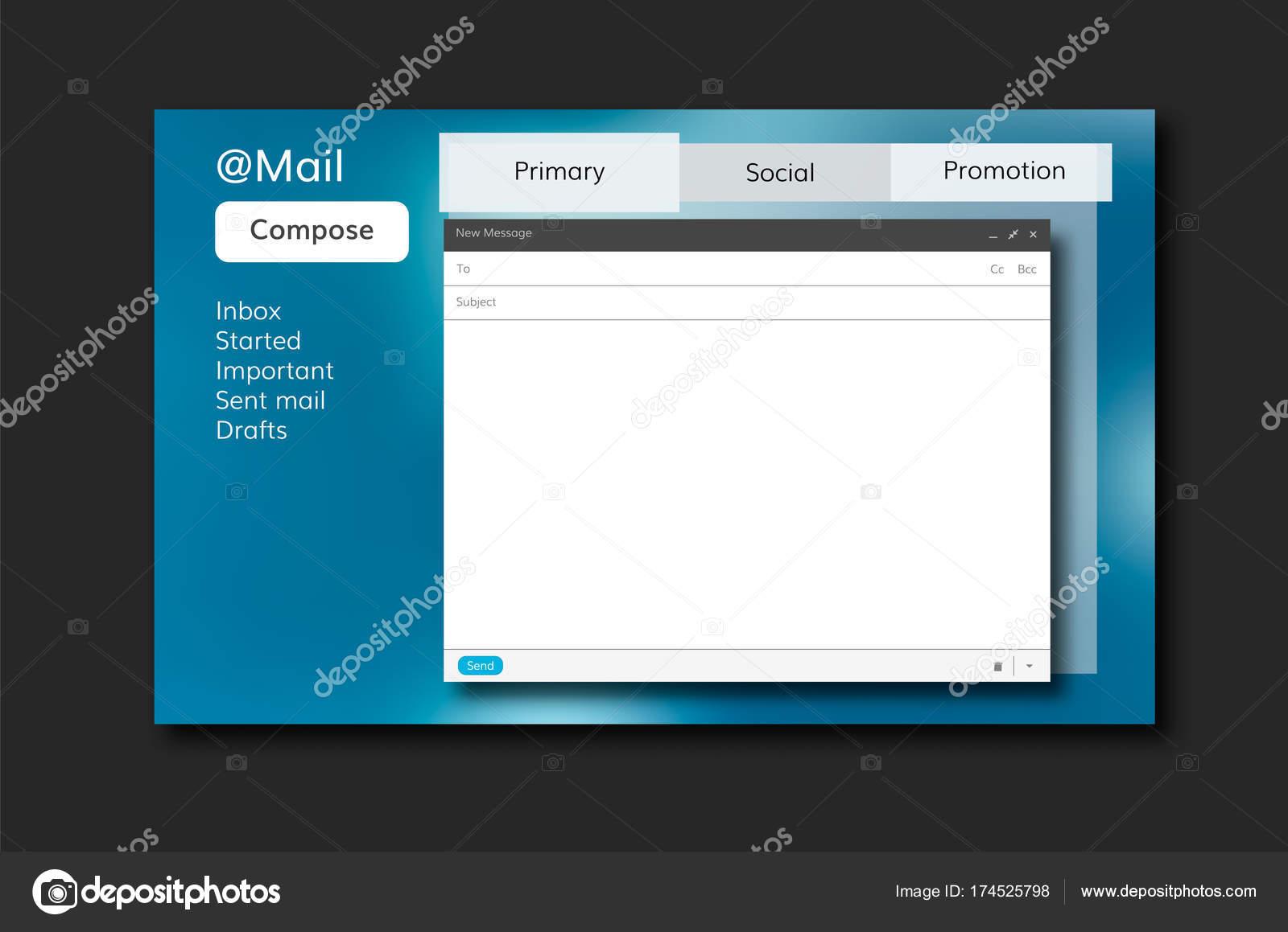 vector de plantilla de correo electrónico — Archivo Imágenes ...