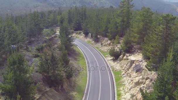 Letecký snímek venkovské silnice