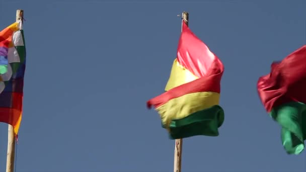 Bolivian Flag waving