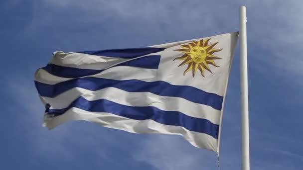 mávání vlajkami Uruguay