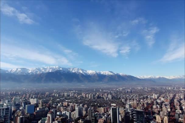 Pohled na města Santiago