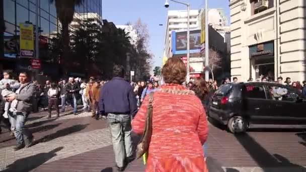 městské pouliční dav