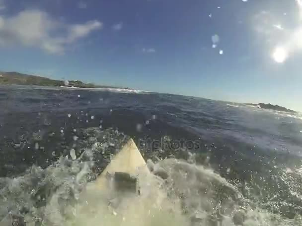 Surfboard In Action Pov Stock Footage