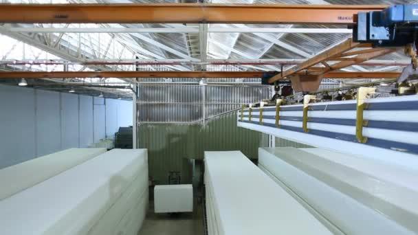 Foam for making mattress in a factory