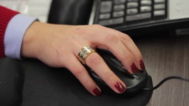 Computer mouse and hand
