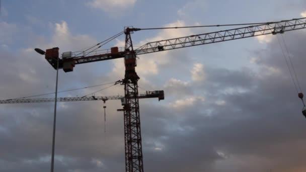 Hubkran auf Baustelle