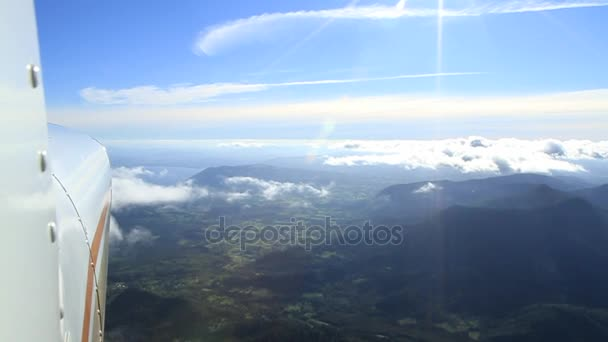 mountain range and clouds