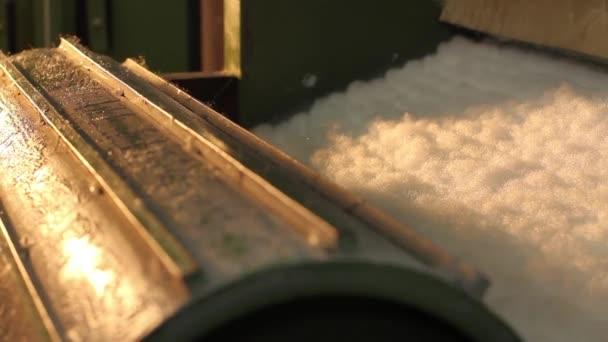Industrial block of mattress foam