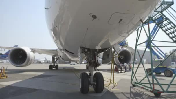 plane parked on the runway