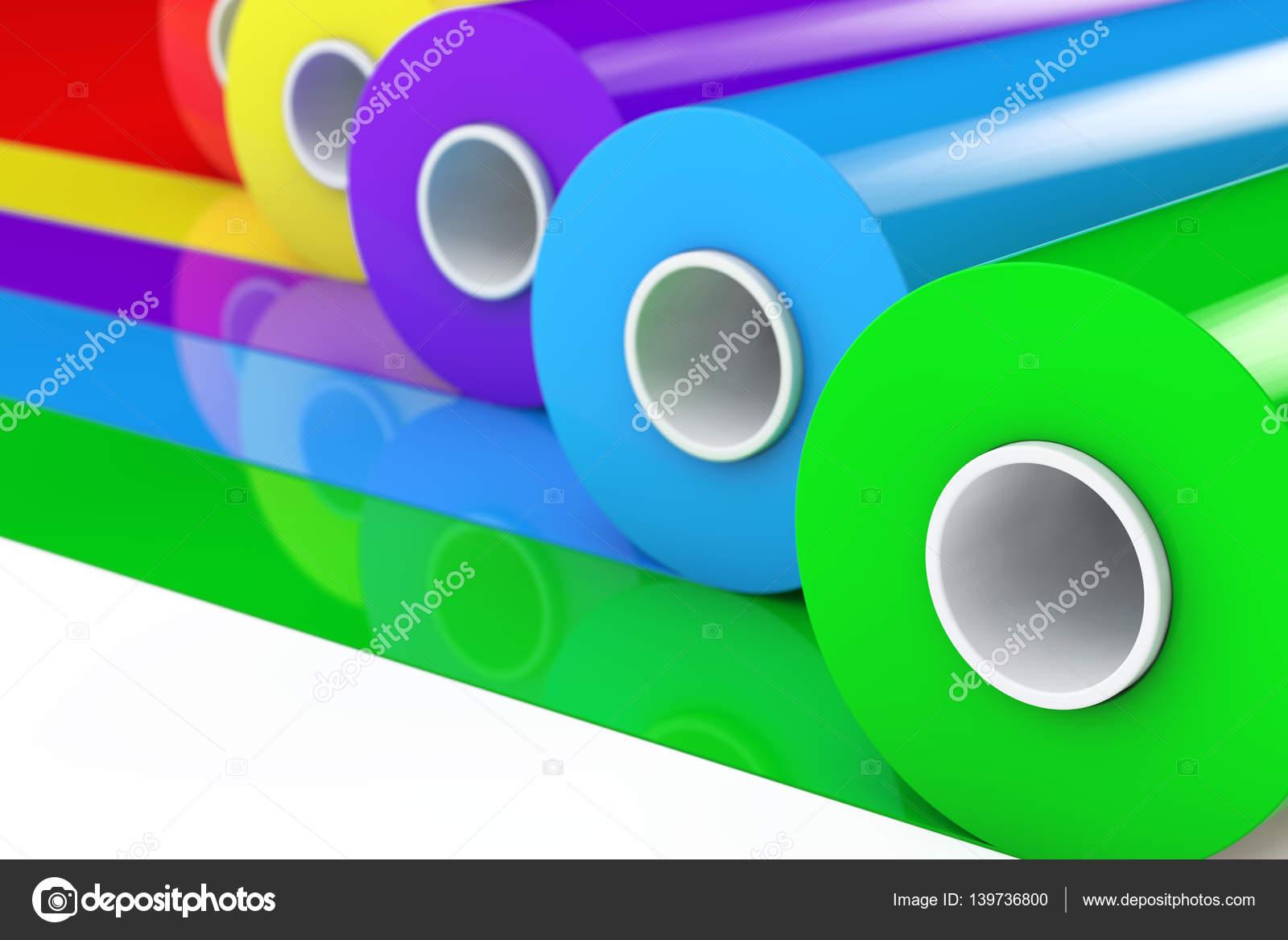 Rollos de cinta de plástico multicolor Pvc polietileno o papel de ...