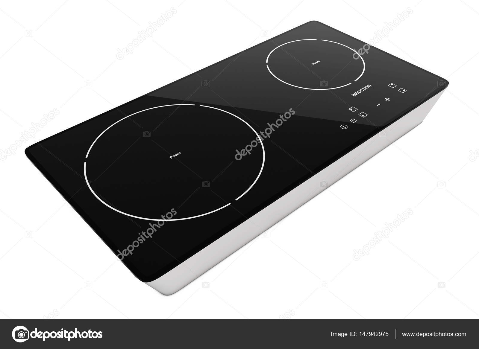 Fornello a induzione portatile mobile stufa. rendering 3D — Foto ...