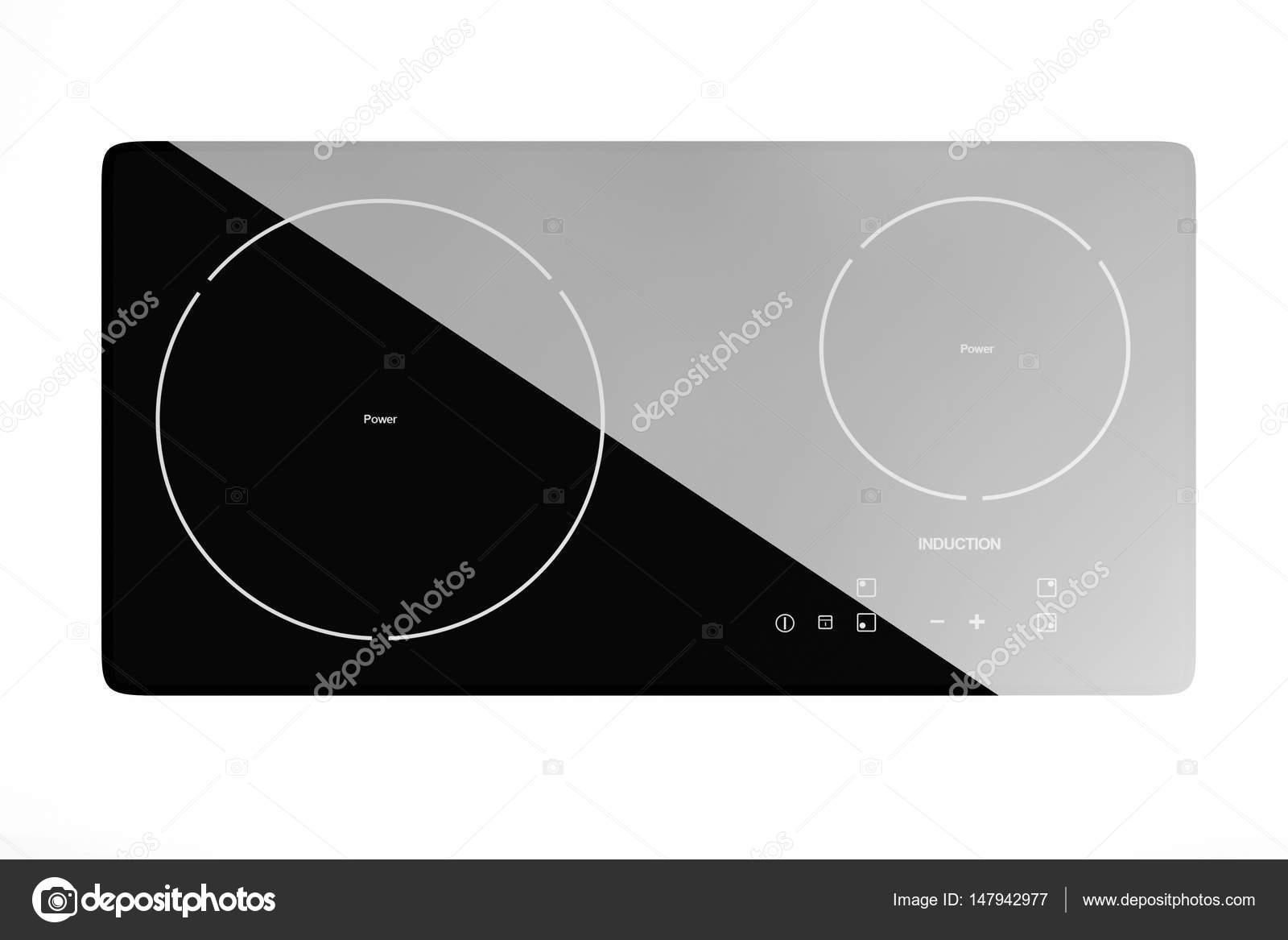 Estufa placa de inducción portátil móvil. Render 3D — Fotos de Stock ...