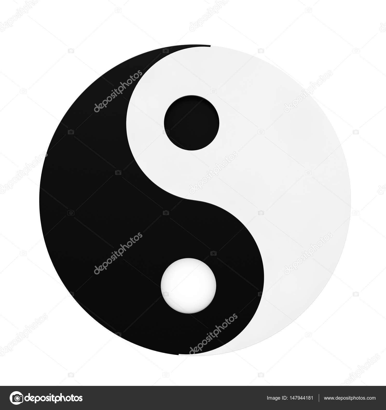 Yin yang symbol of harmony and balance 3d rendering stock photo yin yang symbol of harmony and balance on a white background 3d rendering photo by doomu buycottarizona Choice Image