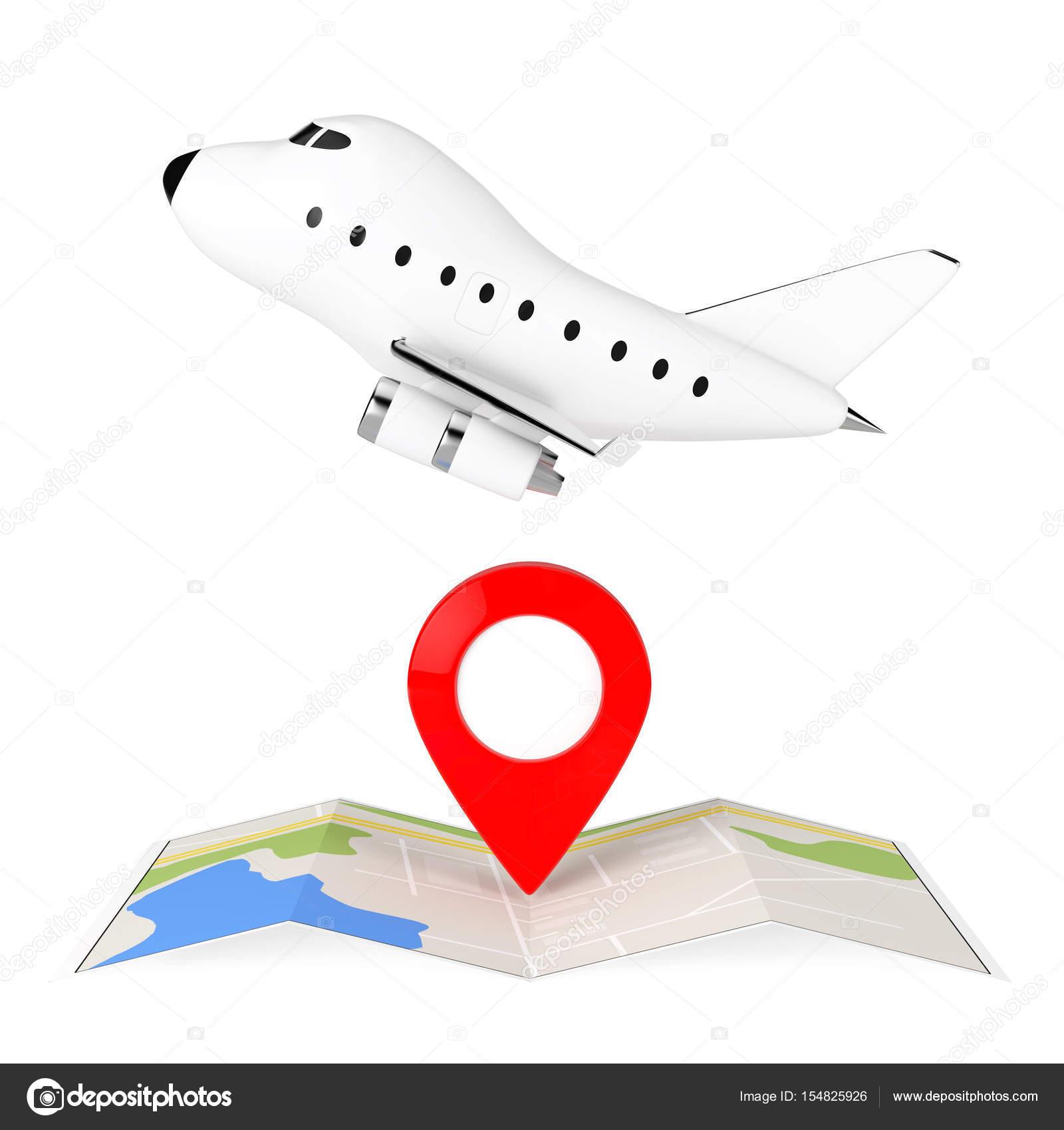 térkép-ész Rajzfilm játék Jet repülőgép át hajtogatott absztrakt navigációs
