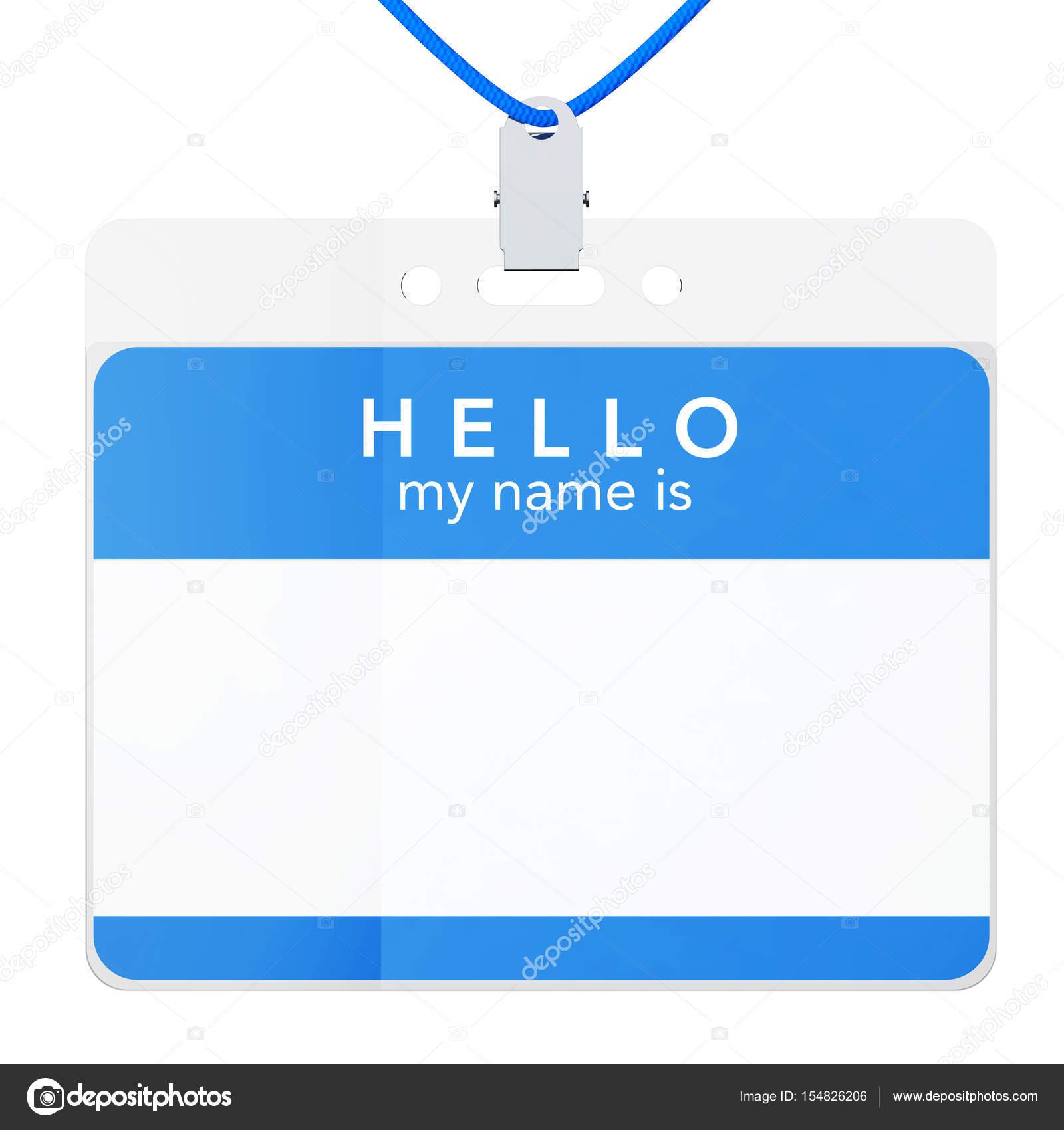 Identificación plástica tarjeta credencial con Clip de Metal. Render ...
