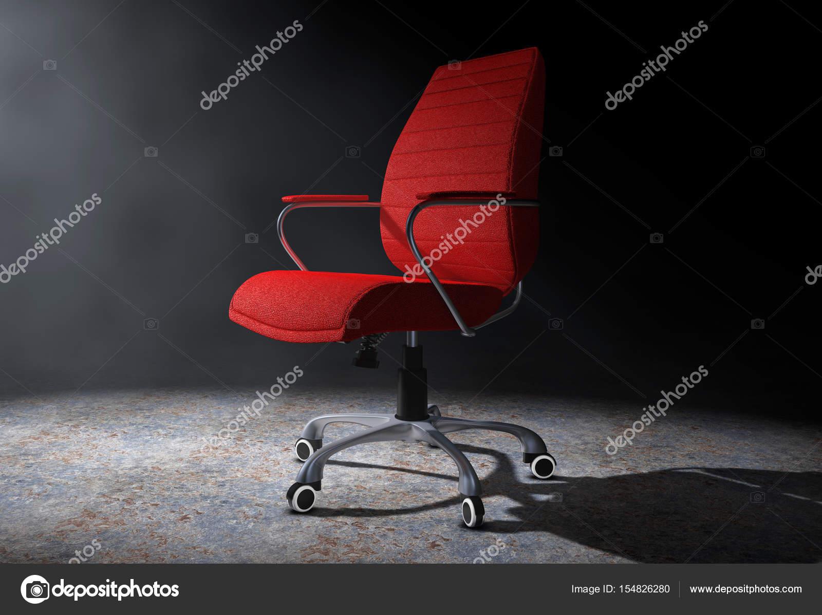 Sedie Da Ufficio In Pelle : Sedia da ufficio capo in pelle rossa nella luce volumetrica