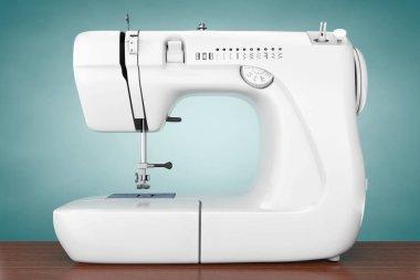 Modern White Sewing Machine. 3d Rendering