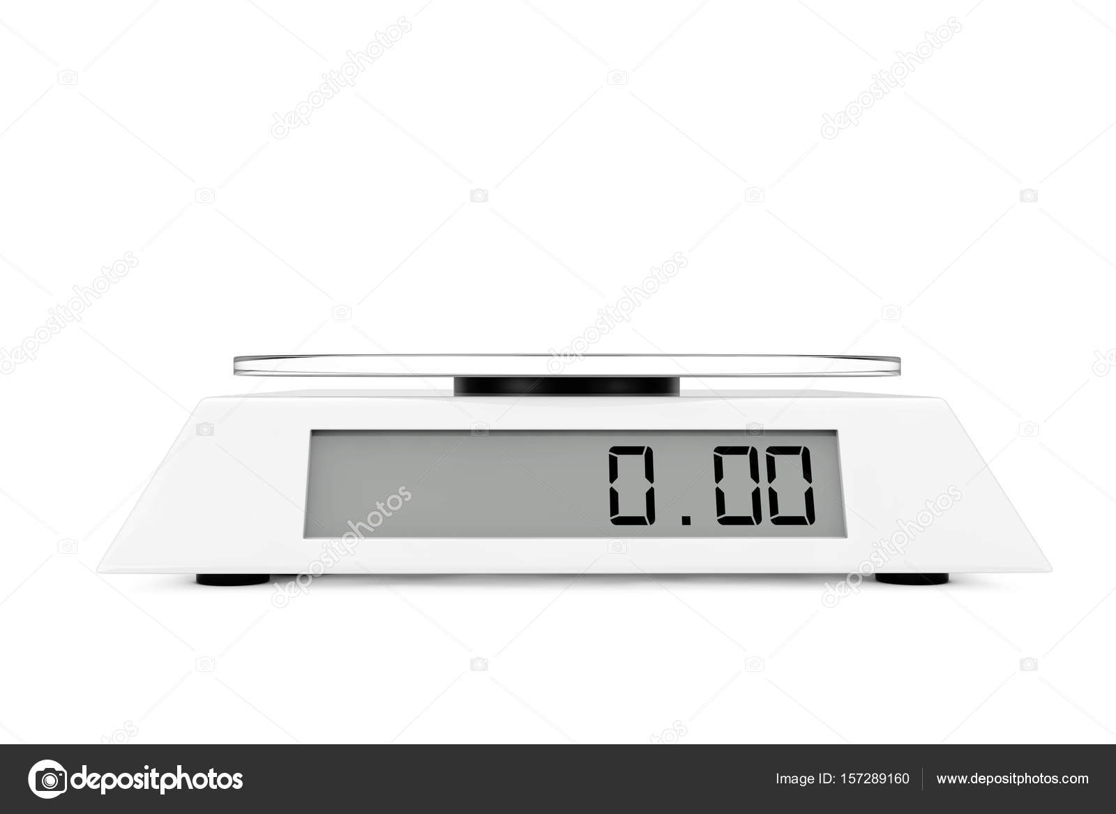 Balanza Digital de cocina simple. Render 3D — Foto de stock © doomu ...