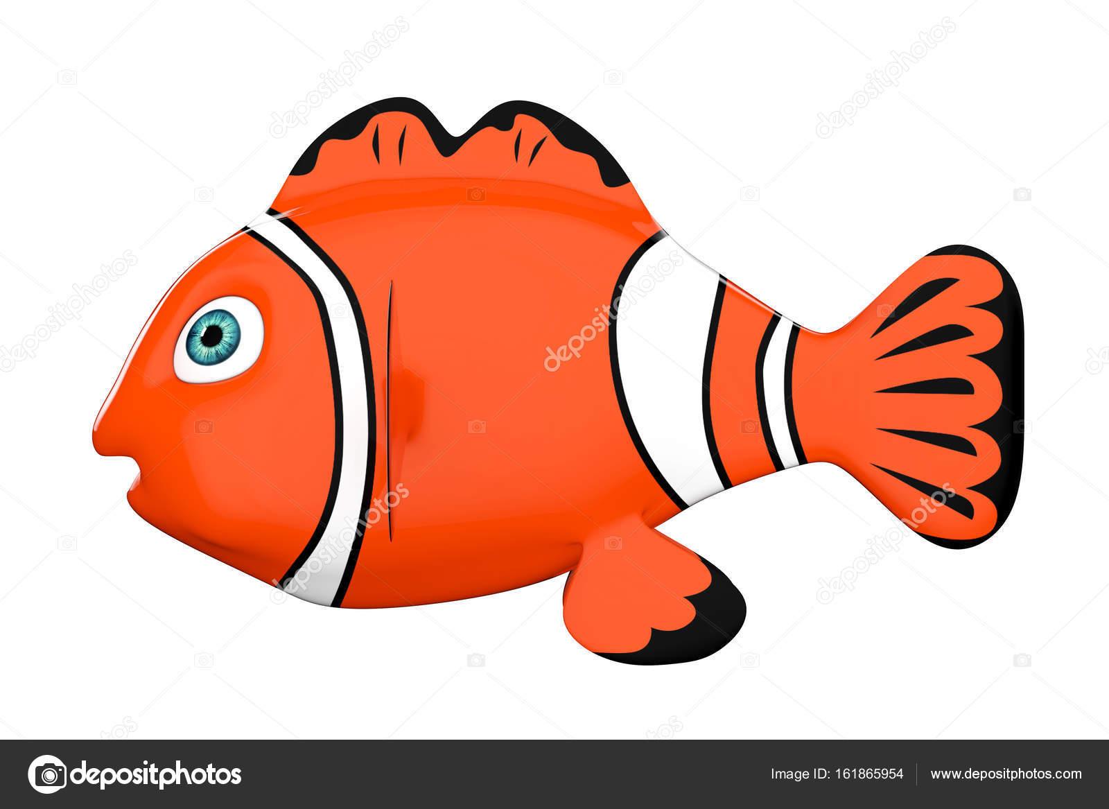 Cartoon Red Sea Clownfish. 3d Rendering — Stock Photo © doomu #161865954