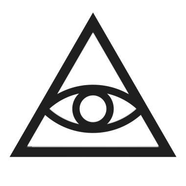Freemason and Spiritual All Seeing Eye Pyramid Illuminaty Symbol