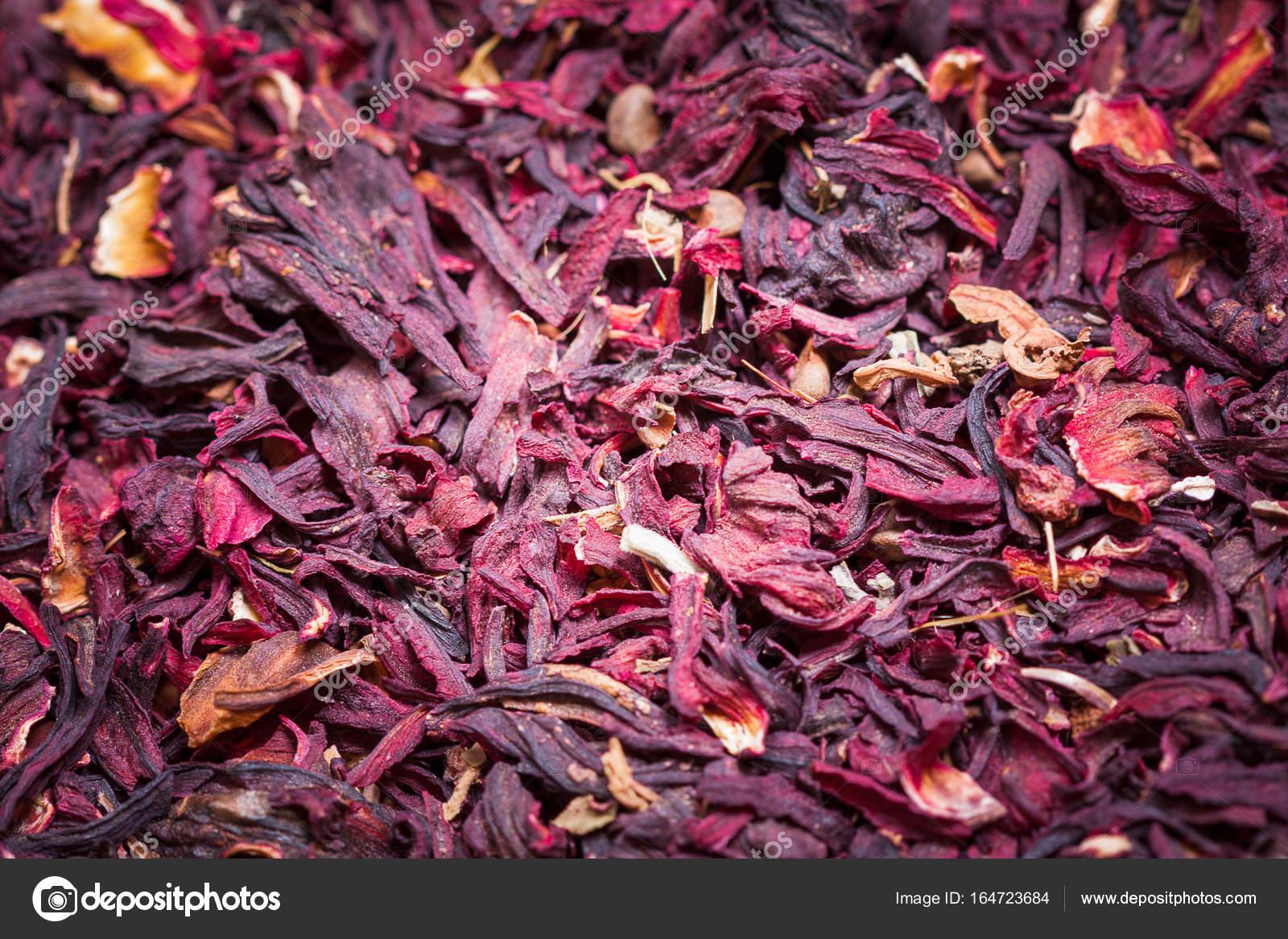 Trockener Roter Tee Hibiscus Hintergrundtextur Stockfoto C Doomu