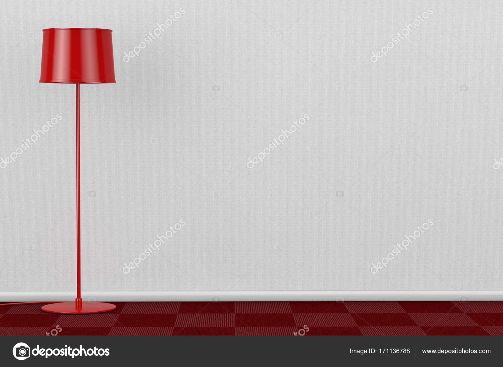 Pavimento Rosso E Bianco : Lampada da terra moderna rosso in camera con pavimento in moquette