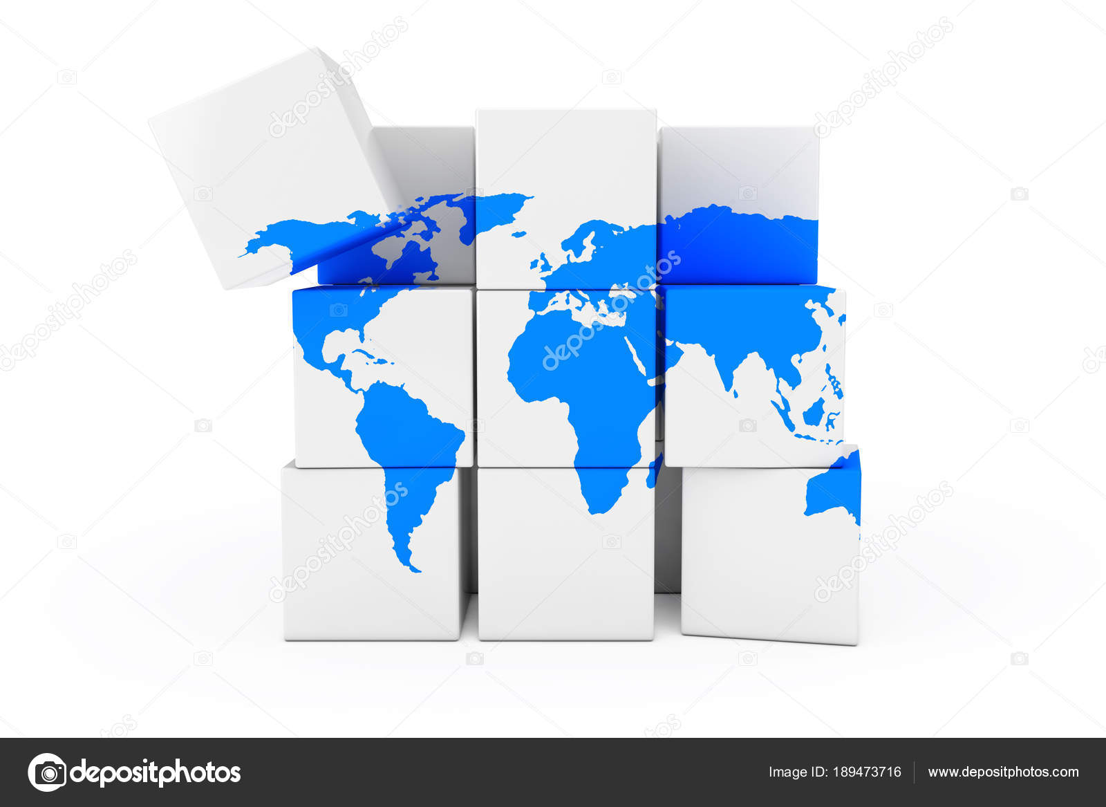 Globe world earth map in the form of cube 3d rendering stock globe world earth map in the form of cube 3d rendering stock photo gumiabroncs Images