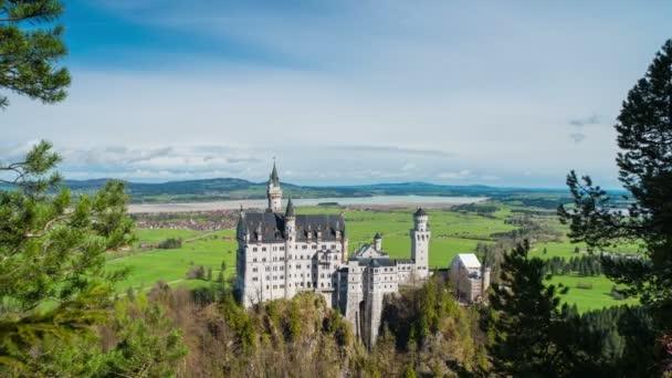 Blick auf das berühmte Schloss Neuschwanstein, Deutschland
