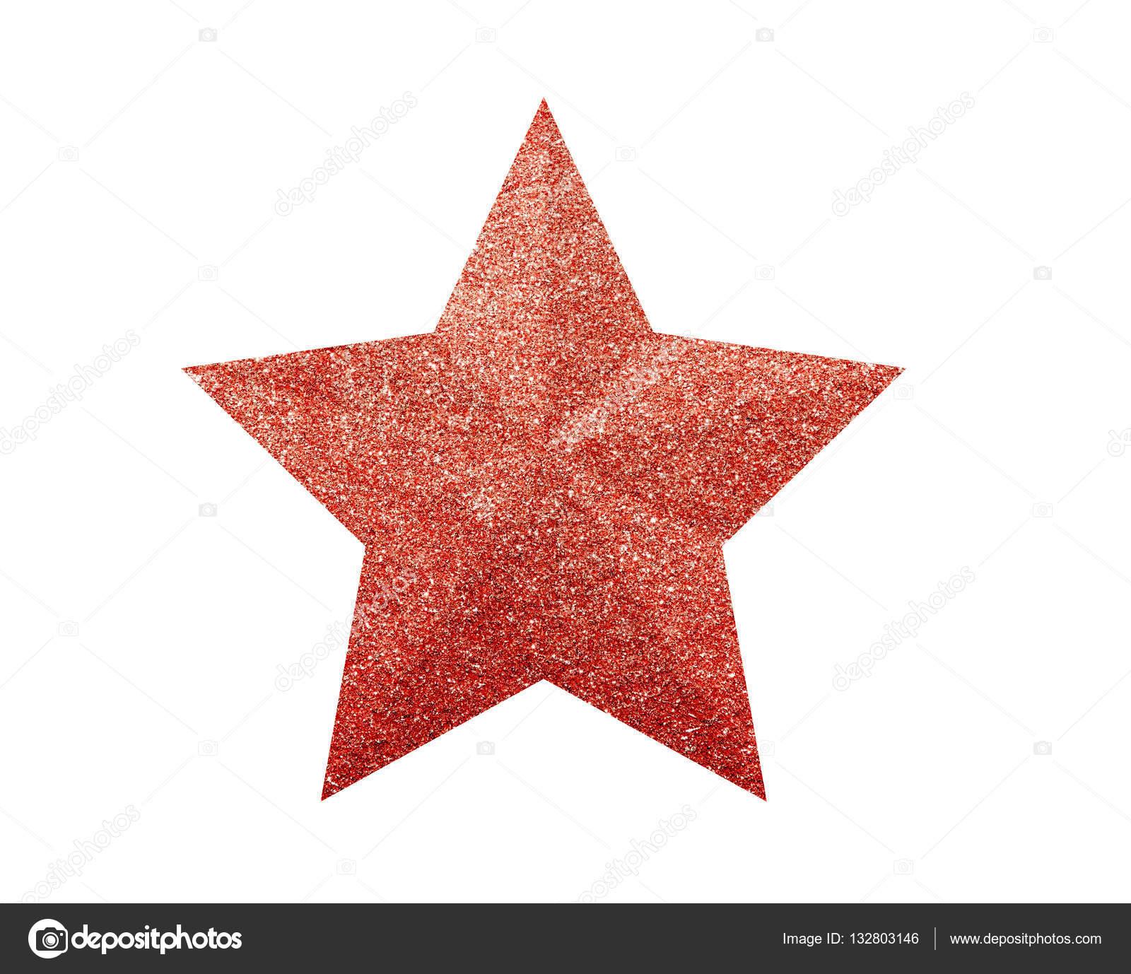 Immagini Stella Di Natale Glitter.Stella Di Natale Glitter Rosso Isolato Su Sfondo Bianco