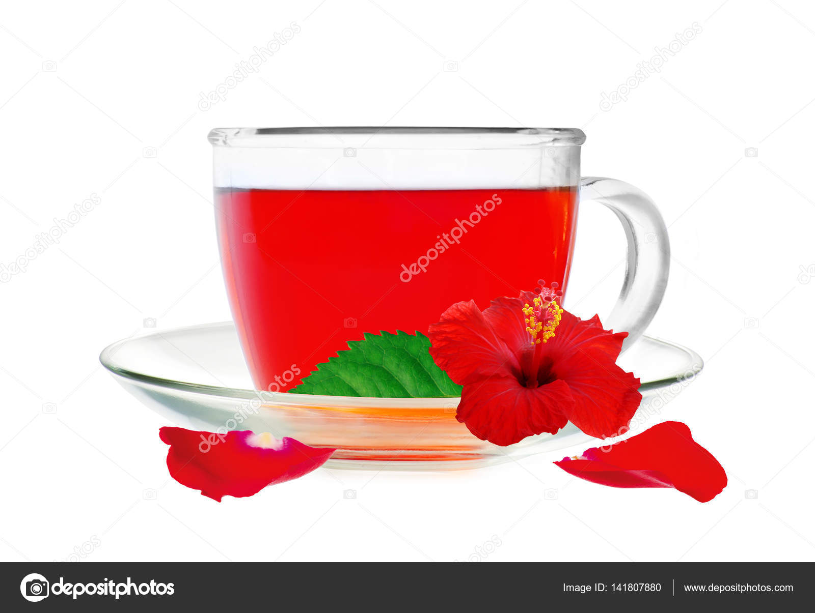Glass cup hibiscus tea with hibiscus flower and petals isolated glass cup hibiscus tea with hibiscus flower and petals isolated stock photo izmirmasajfo