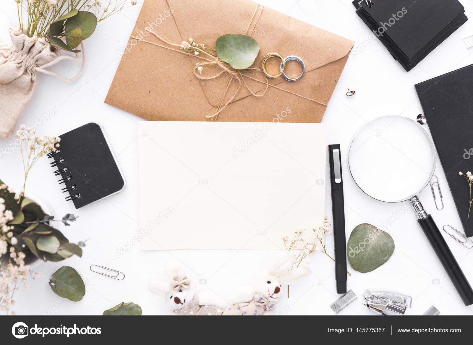 Espace Travail Plat La C Planification Mariage Cartes Invitation