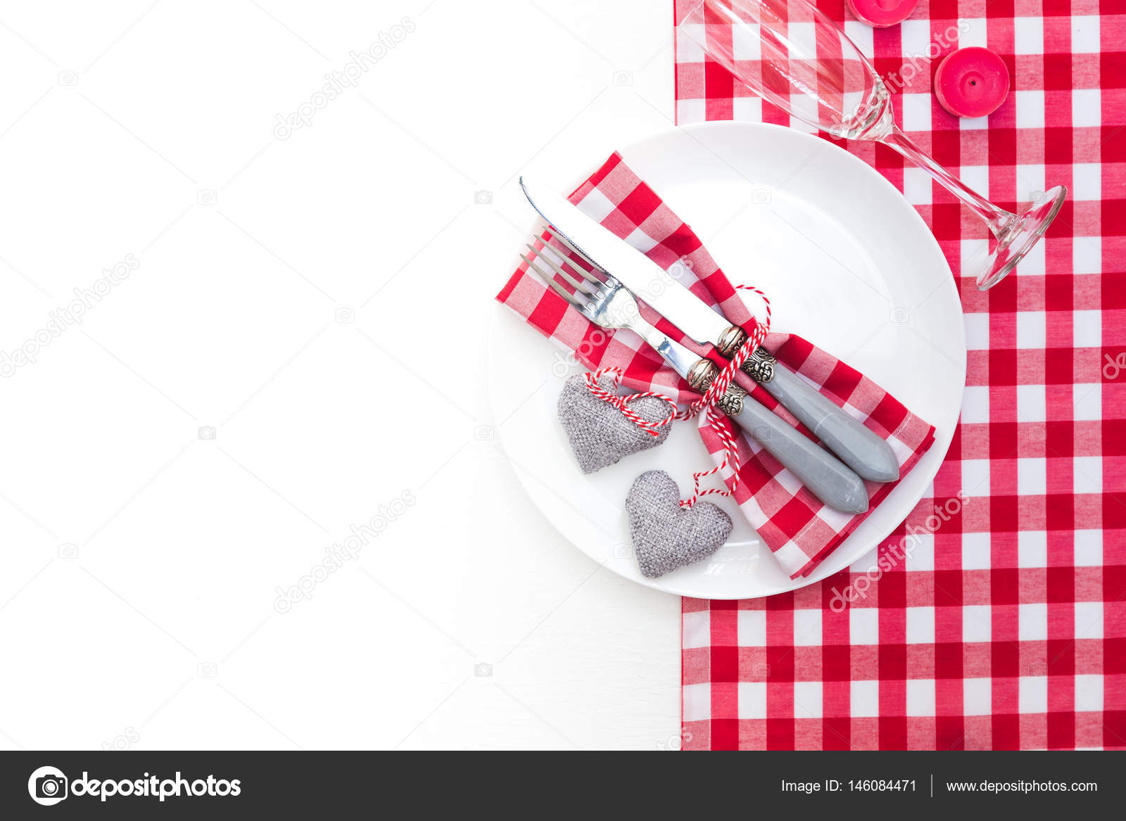 Romantic table setting on white wooden tablelentines day card romantic table setting on white wooden tablelentines day card template stock photo pronofoot35fo Image collections