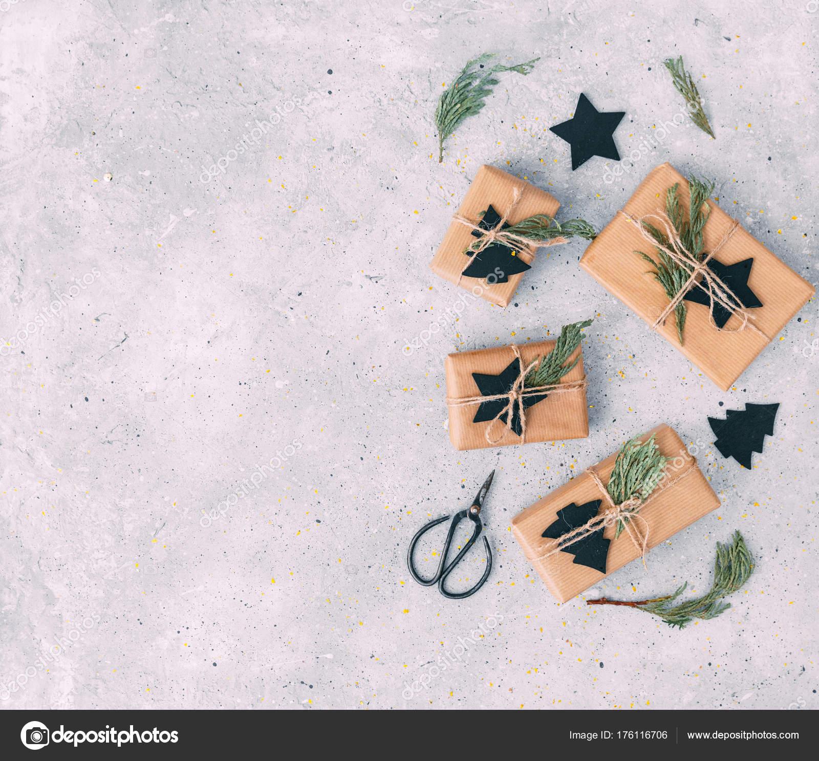 Hausgemachte Weihnachtsgeschenk Kraftpapier Freiraum Für Text ...