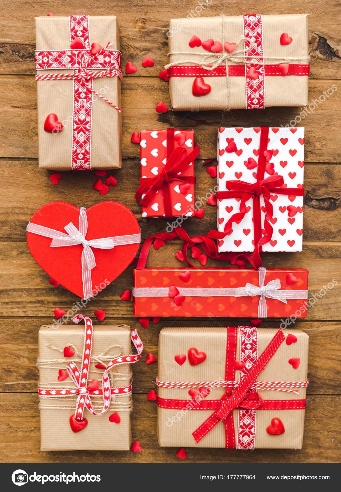 Geschenk Boxen Verpackt Flach Legen Weihnachten Valentinstag Oder