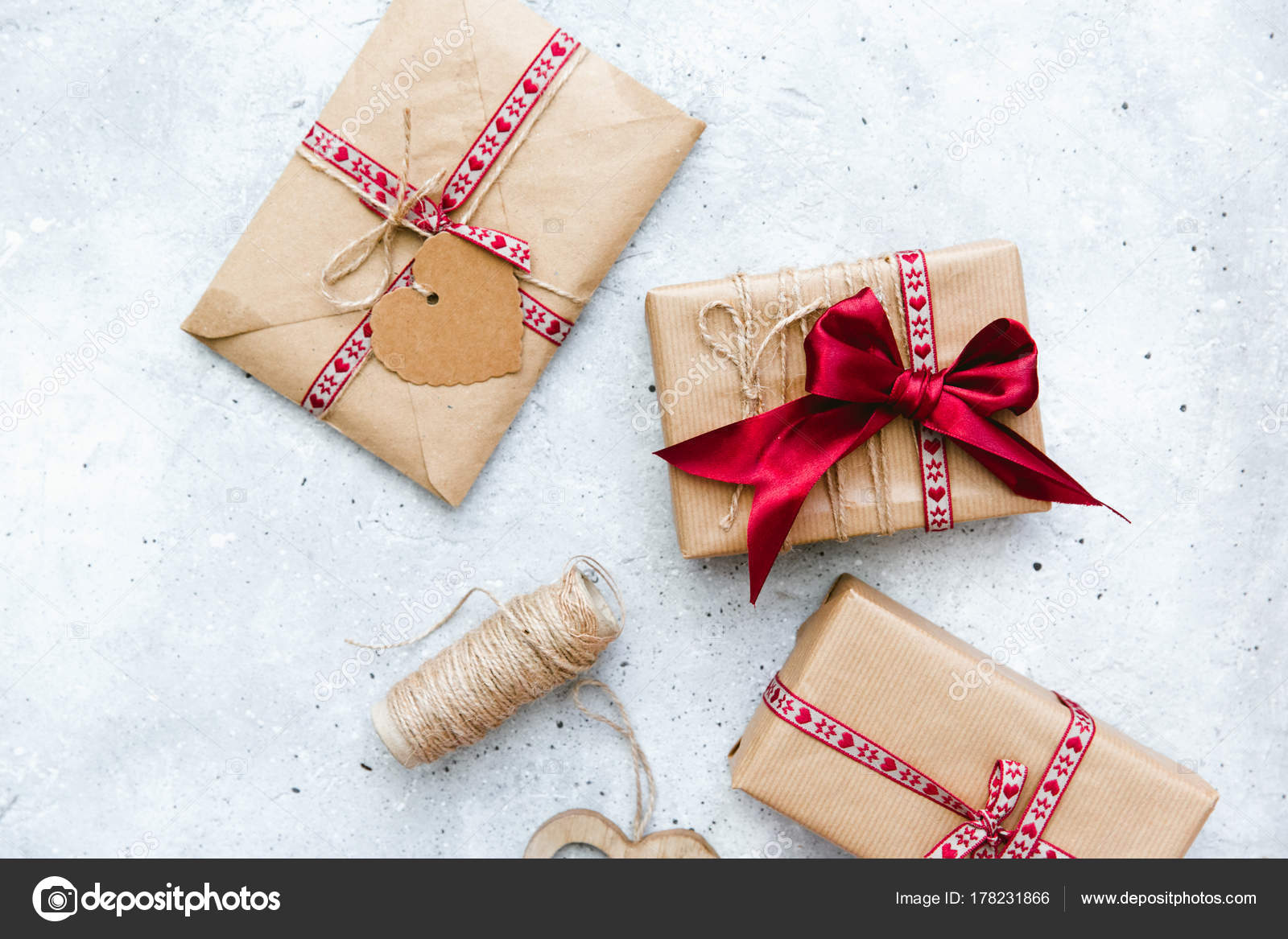 Gift wrapped boxes red decorative heart vintage background stock gift wrapped boxes red decorative heart vintage background stock photo negle Images