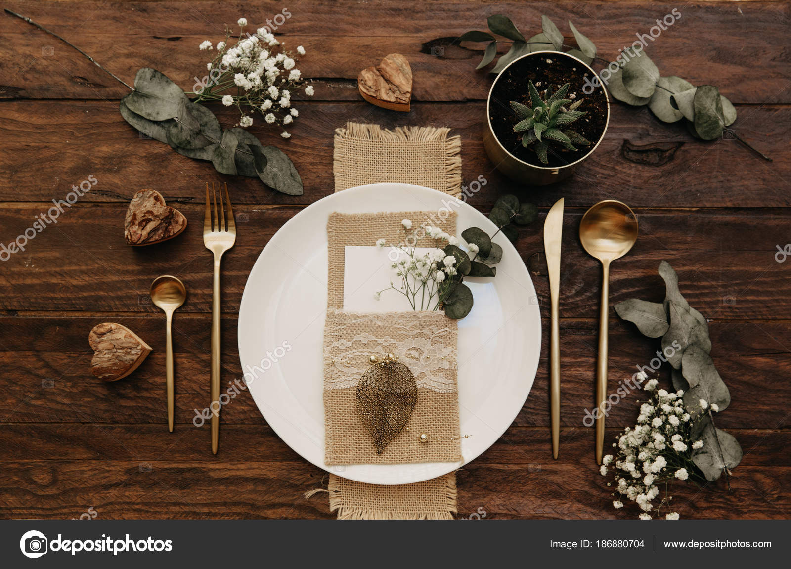 Rustic Wedding Table Set Vintage Dining Table Decorations Flowers