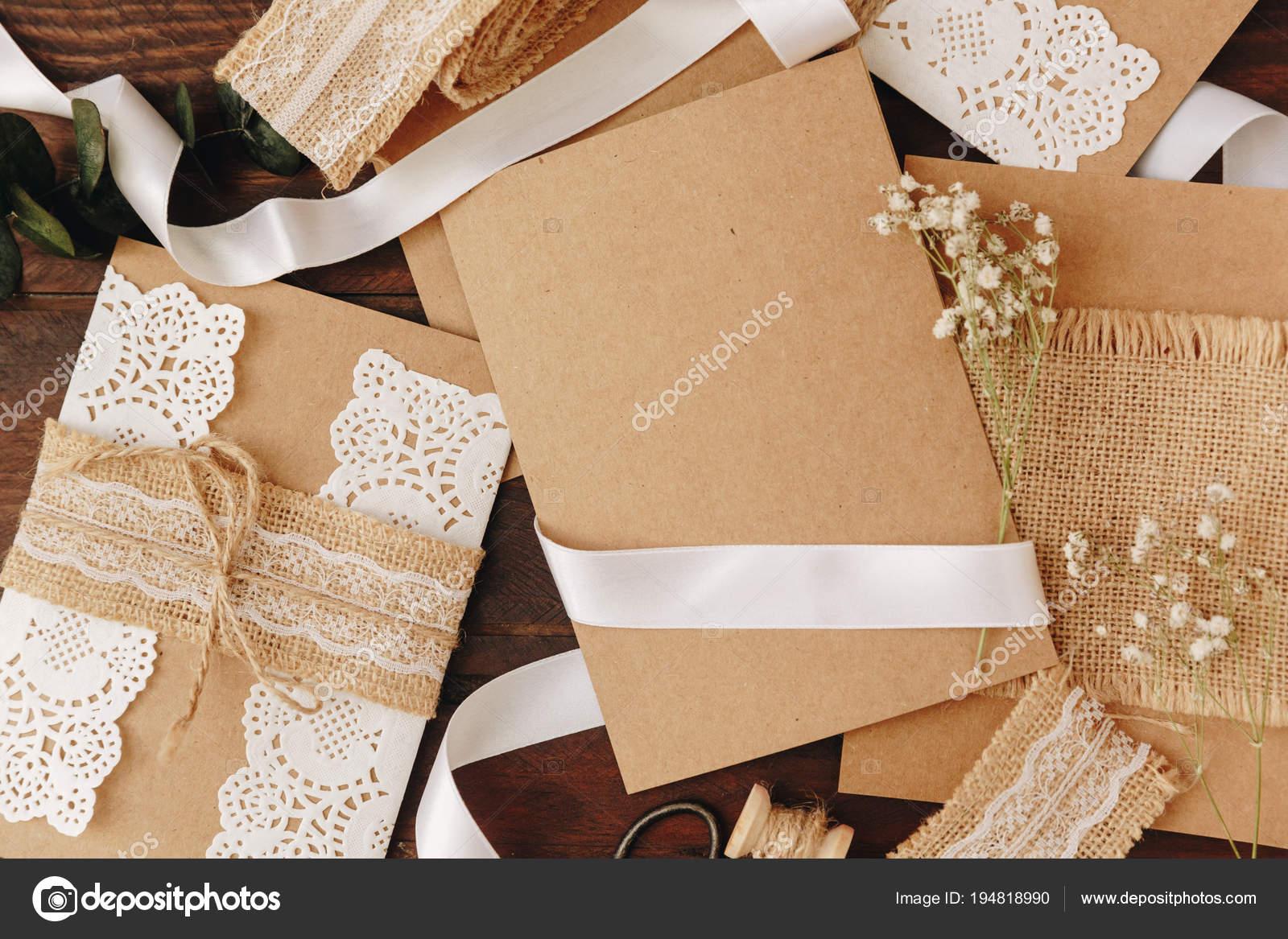 Preferenza How Make Wedding Invitation Rustic Diy Concept Handmade BU69