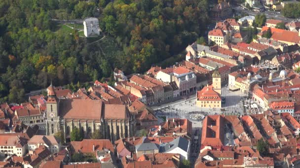 Aerial view cityscape of Brasov in Transylvania, Romania
