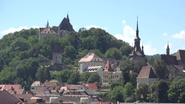Panorama of Sighisoara medieval city in Romania