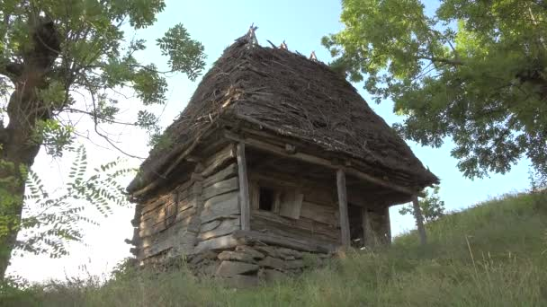 Old rustic wooden traditional house in Apuseni Mountains, Transylvania, Romania
