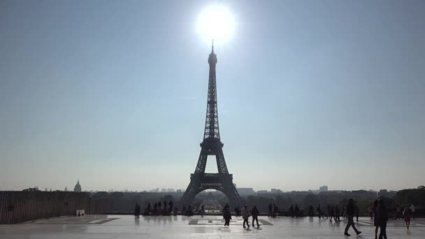 Sun shinning over Eiffel tower, morning light