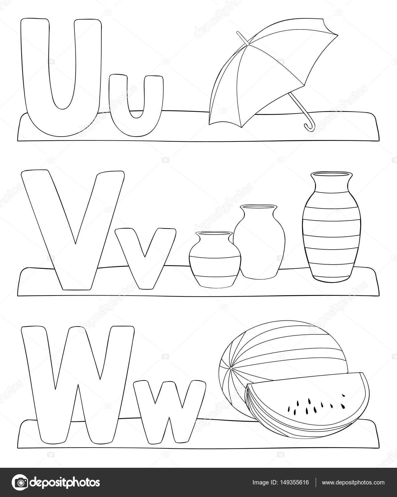 Page De Coloriage Lettres Alphabet Image Vectorielle Pupahava