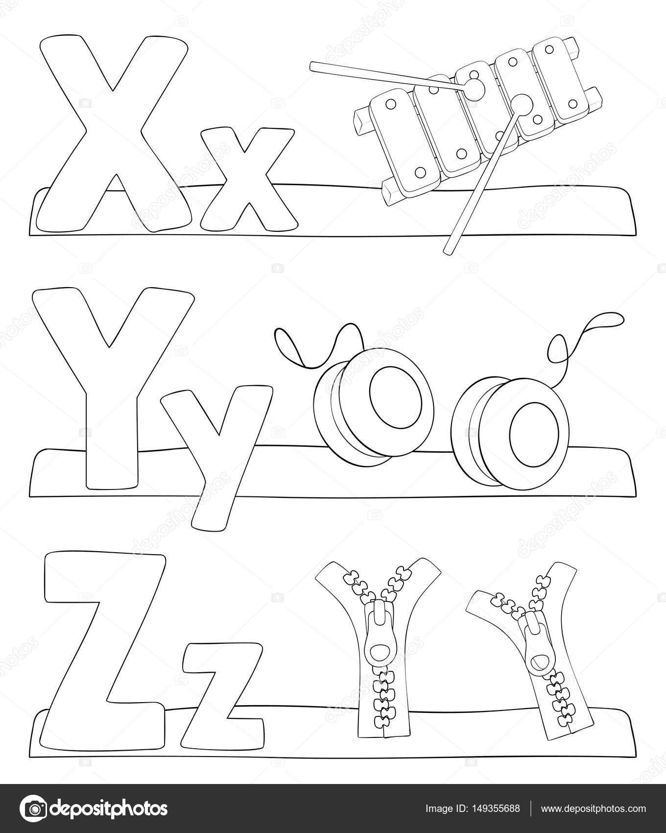 Alphabet Buchstaben Malvorlagen Stockvektor Pupahava 149355688