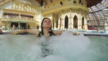 Girl in the jacuzzi