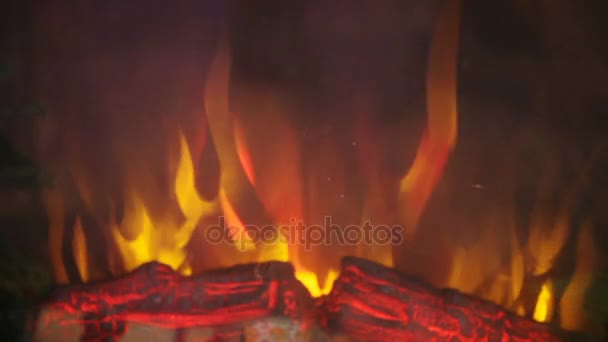 Artificial Fire In Fireplace Stock Video C Spstudiovideo 166861058