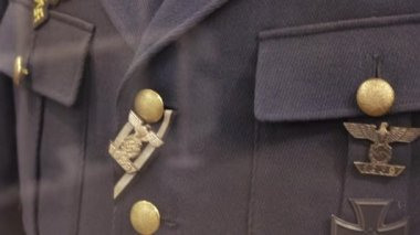 The uniform of a German officer of the Second World War