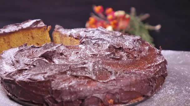 Dýňový koláč na talíři