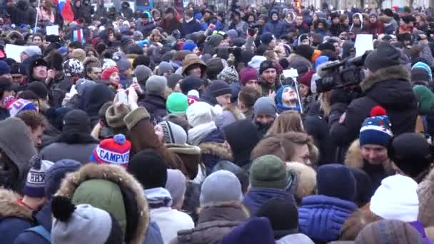 Rally na podporu bojkotu v roce 2018